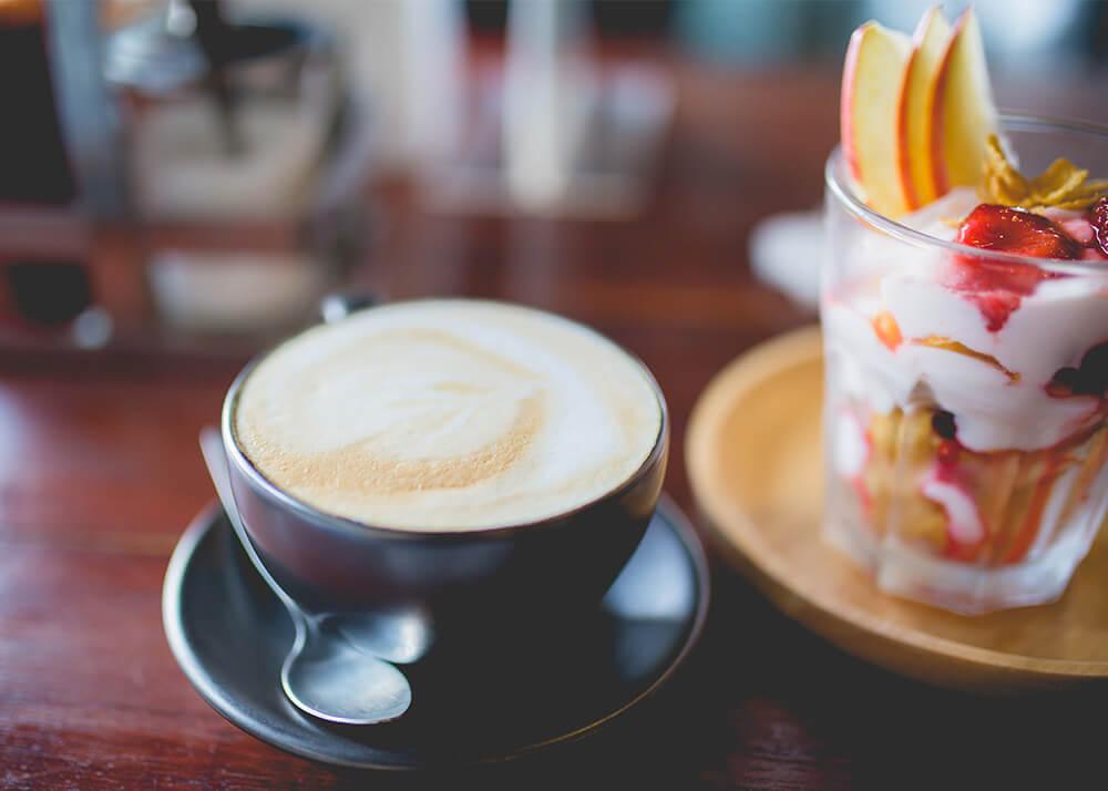 コーヒーとパフェ
